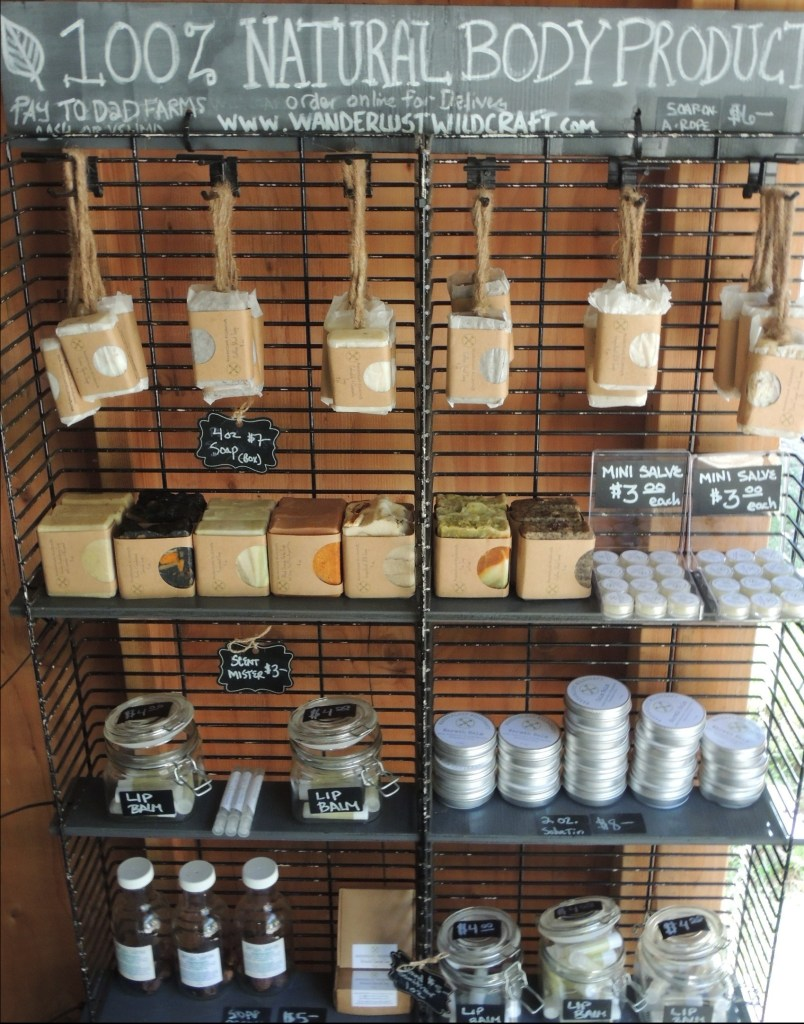 Natural body products at Dare 2 Dream farm stand