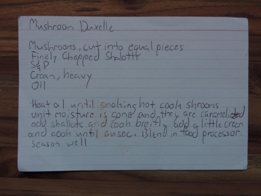 Mushroom duxelle recipe