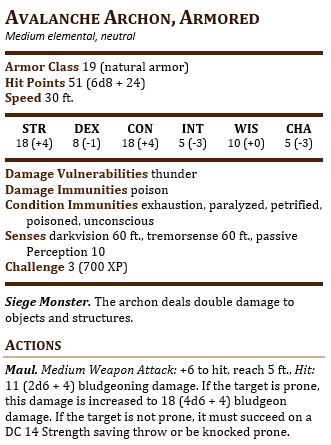 Avalance Armored