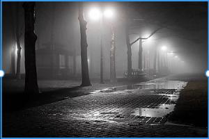 creepy city street