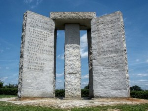 This monument advocates a maximum global population of 500 Million. Click to read population reduction quotes by the Globalist leaders of the world
