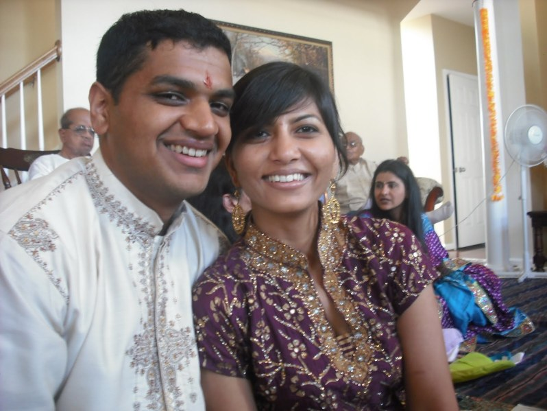 Devang and Chika during their wedding week in 2010