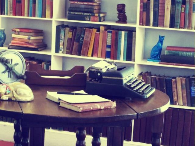 Hemingway's typewriter in his writing loft in Key West