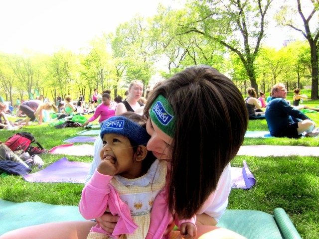 Yoga in the Park with Asha.