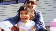 Asha and Chika on blacony