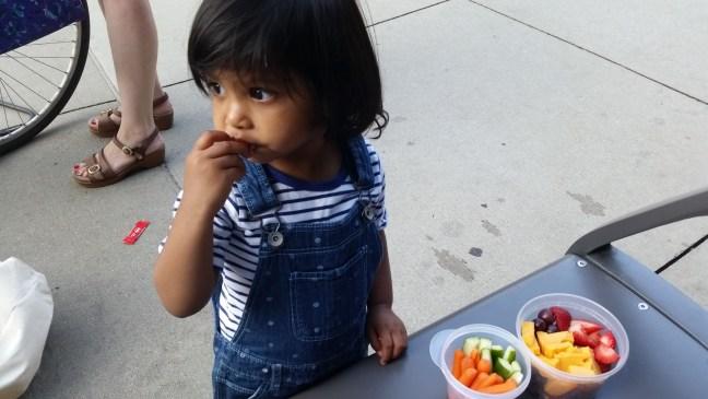 Asha snacking at Millennium Park Picnic