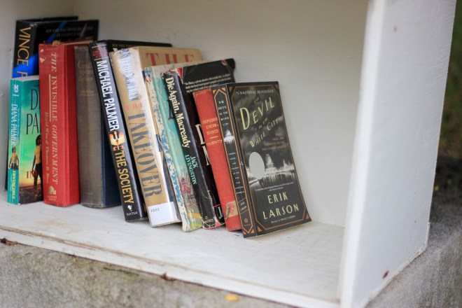 the little library in Historic Oakwood, Raleigh