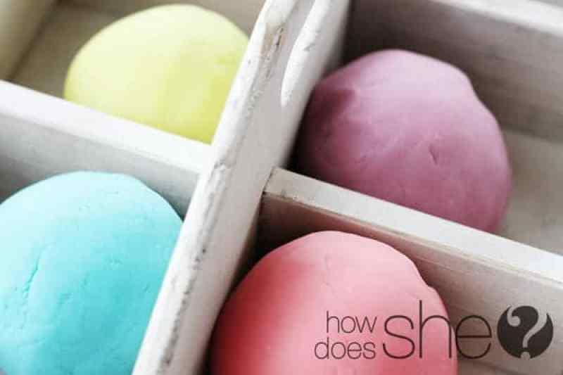 Toddler Crafts & Activities Roundup - homemade play dough