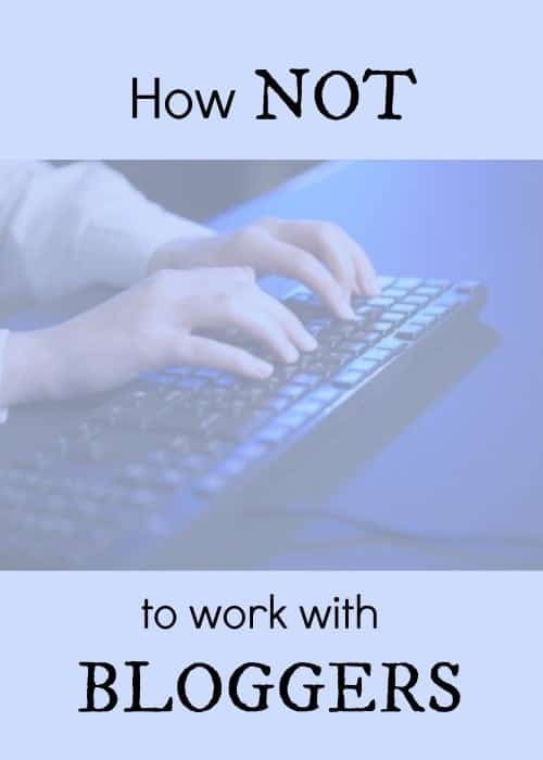 How to and not to work with bloggers