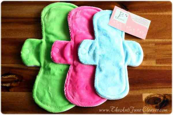 Pink Lemonade Menstrual Pads #review {mama cloth}