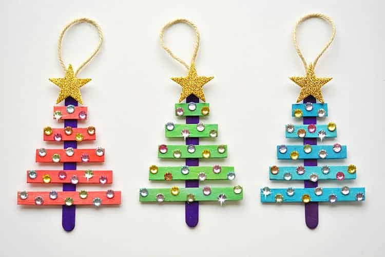13 DIY Homemade Christmas Ornaments to make with the kids