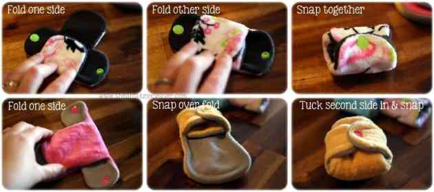Products to Help Make Using Mama Cloth Even Easier - how to fold #mamacloth