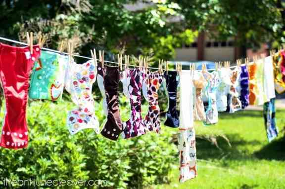 Line drying #clothdiapers #DEsmarthome