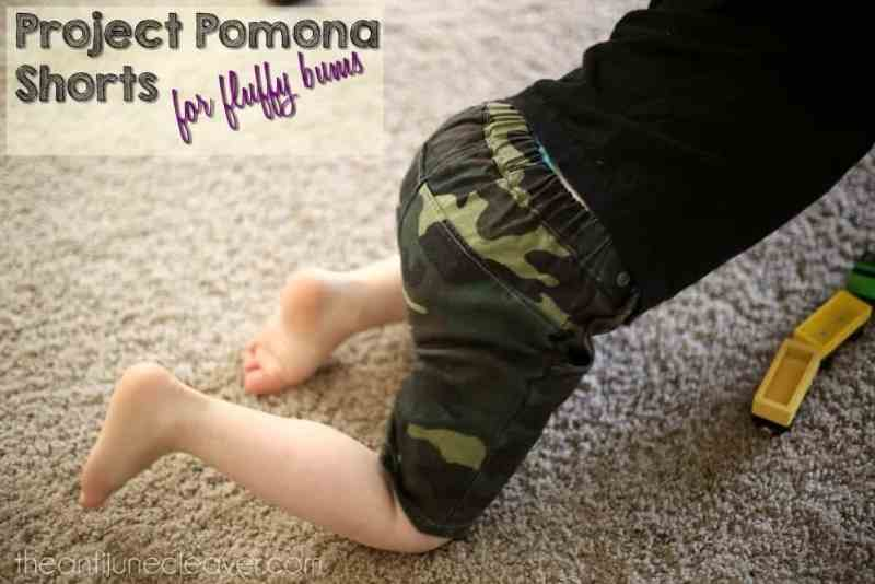 Project Pomona Shorts for Cloth Diapered Babies and Toddlers #clothdiapers