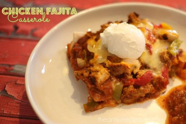 Chicken Fajita Casserole {Mexican Lasagna} Recipe #SummerofGiving #shop