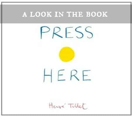 A look in the book: Press Here by Herve Tullet (children's book)