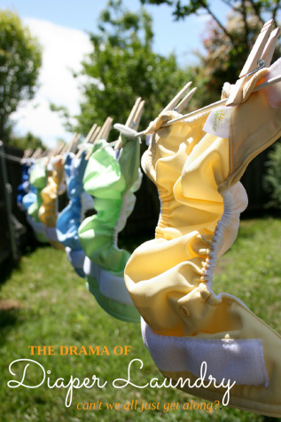 The drama of cloth diaper laundry