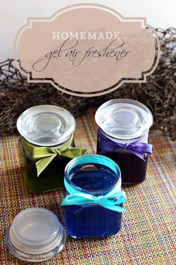 How to make homemade all-natural gel air fresheners with essential oils. #LongLastingScent with Suavitel® Fragrance Pearls™ #cbias #ad