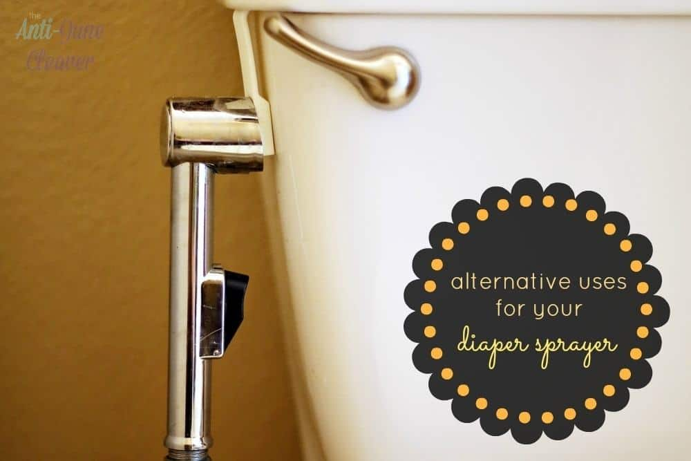 Why you should keep your diaper sprayer after you're done with cloth diapers - alternative uses for a diaper sprayer