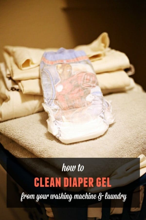 What to do when you wash a disposable diaper. How to clean diaper gel beads out of your laundry and washing machine.