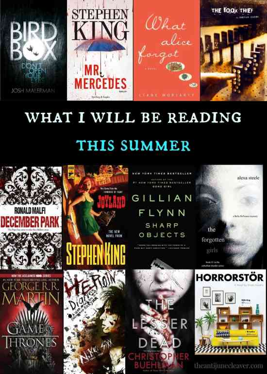The summer reading list of a suspense/thriller/horror fan. Are you looking for something to read that may not be the current IT book or chick lit? These are the books that are on my summer reading list.