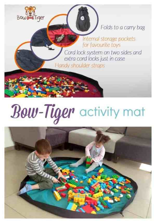 "Clean up is a breeze with the Bow-Tiger 60"" activity mat {review}"