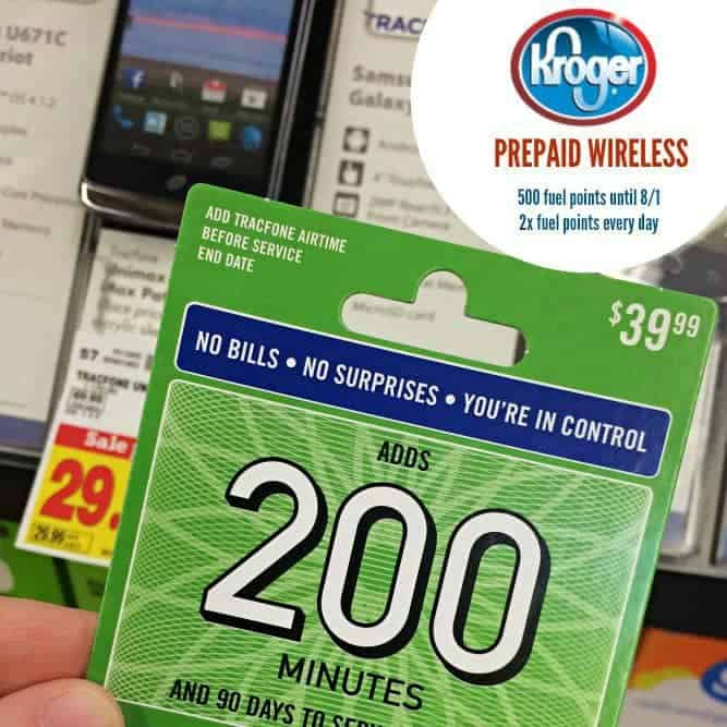 Get 500 fuel points until 8/1 and 2x fuel points evert day with Kroger prepaid wireless