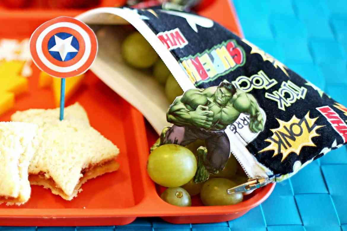 Marvel Avengers kids' food and snack idea: How To Make a Lunch Fit for a Superhero (ad)