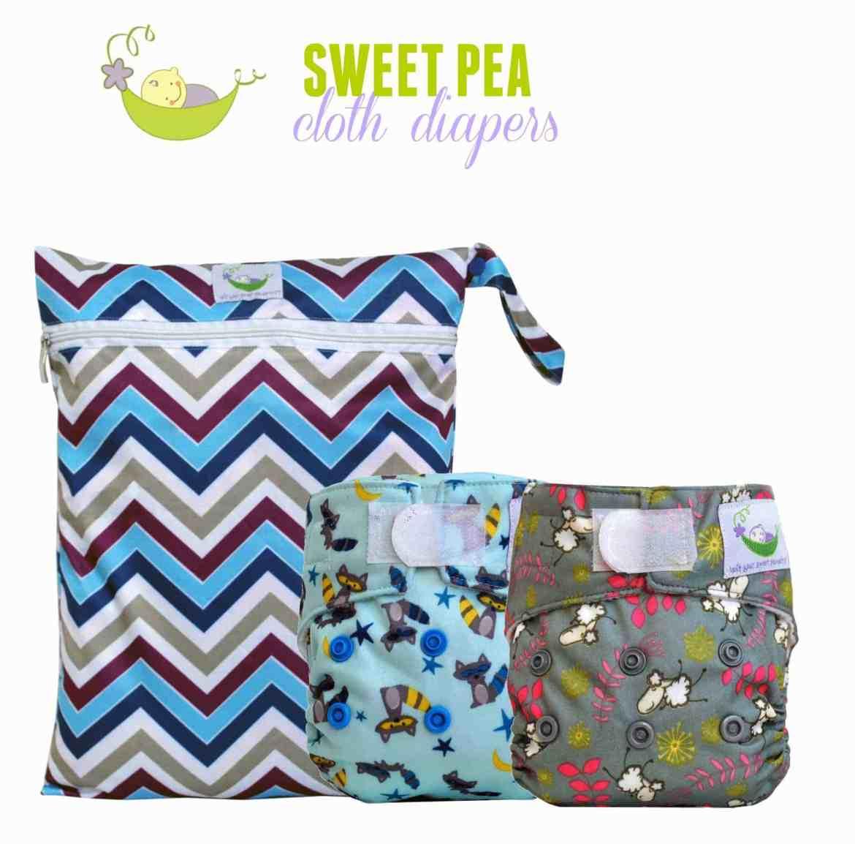 Sweet Pea newborn cloth diaper & wet bag review