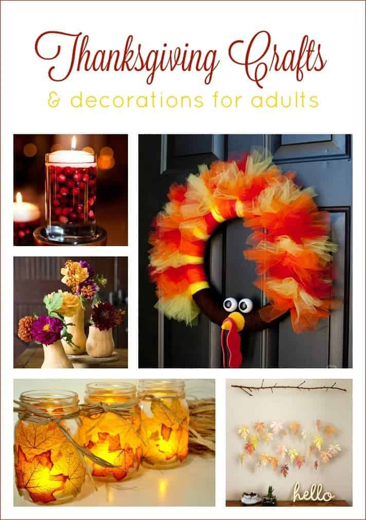 11 Thanksgiving and Fall Decorations and Crafts for Adults