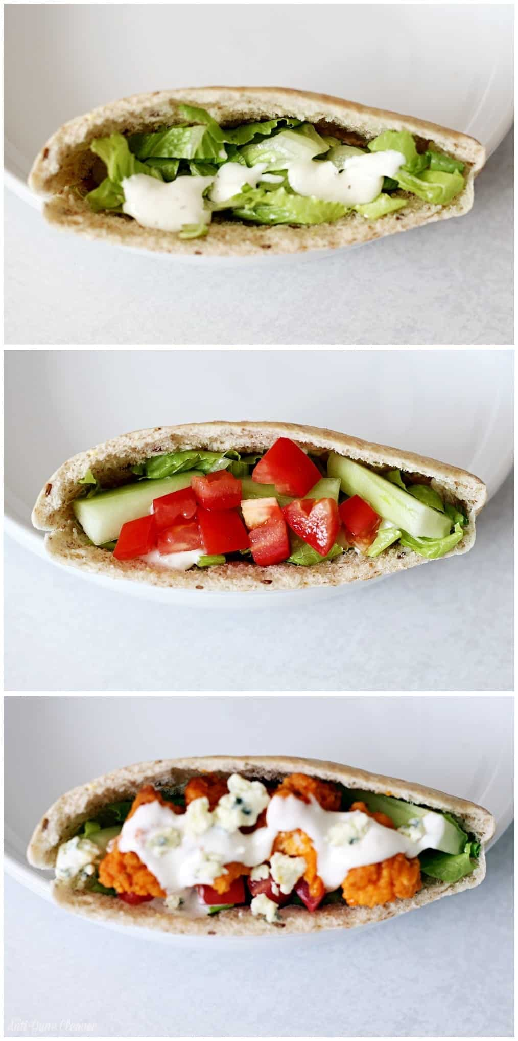 Fast and Easy Buffalo Chicken Pita Sandwich Recipe #MomsWingMan (ad)