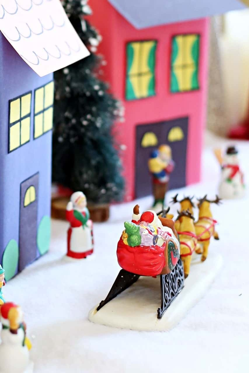 How to Make a DIY Cookie Box Christmas Village #GiftDeliciously (ad)