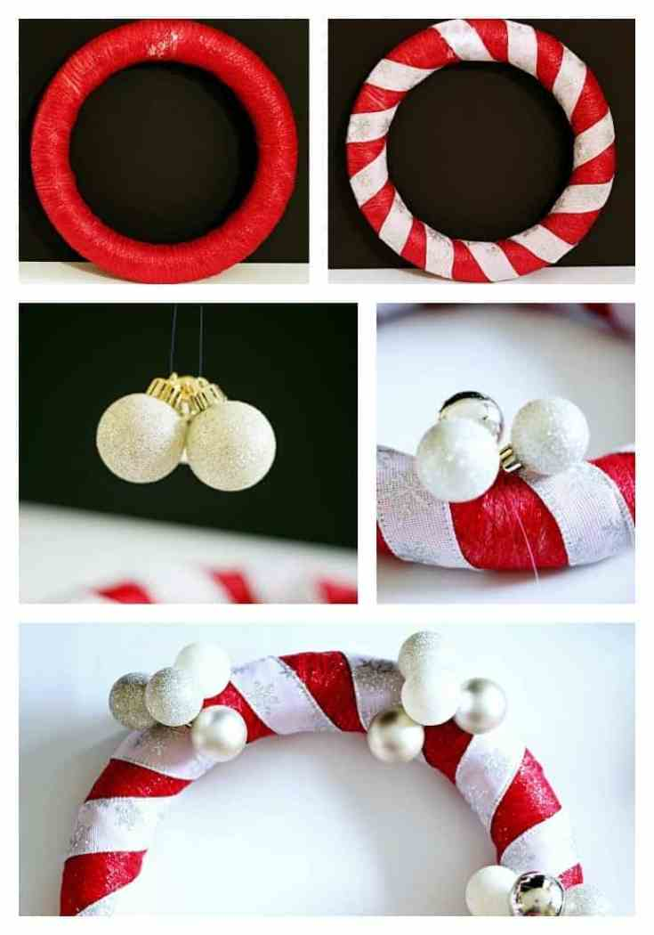 Learn how to make a fabric and ribbon DIY Christmas Wreath #HolidaysWithMilos #drinkmilos (ad)