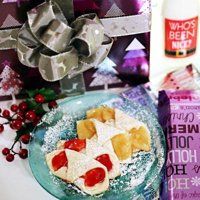 #ShareTheHoliday with Fruit & Cream Cheese Cookies Plus a DIY Ribbon Gift Bow (ad)