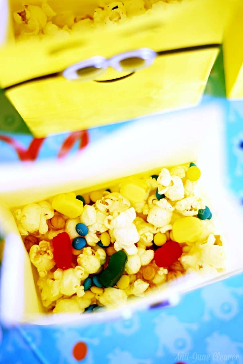 Kids activities & party ideas: Have a Minions Movie Night with a Minion Popcorn Bar (ad)
