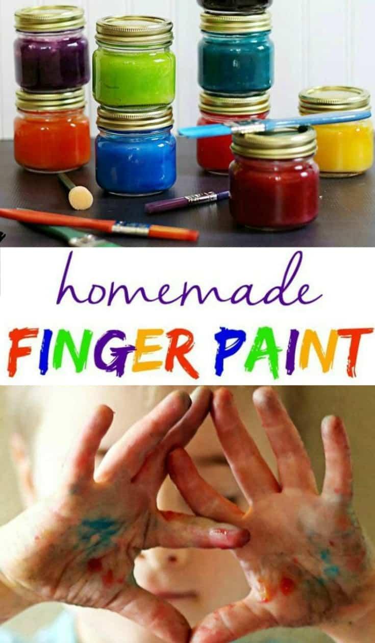 DIY Non-Toxic Homemade Finger Paint Recipe #fingerpaint #kidsactivities #kidsdiy #diy #nontoxic #homemade #nontoxicfun #kidscrafts AD