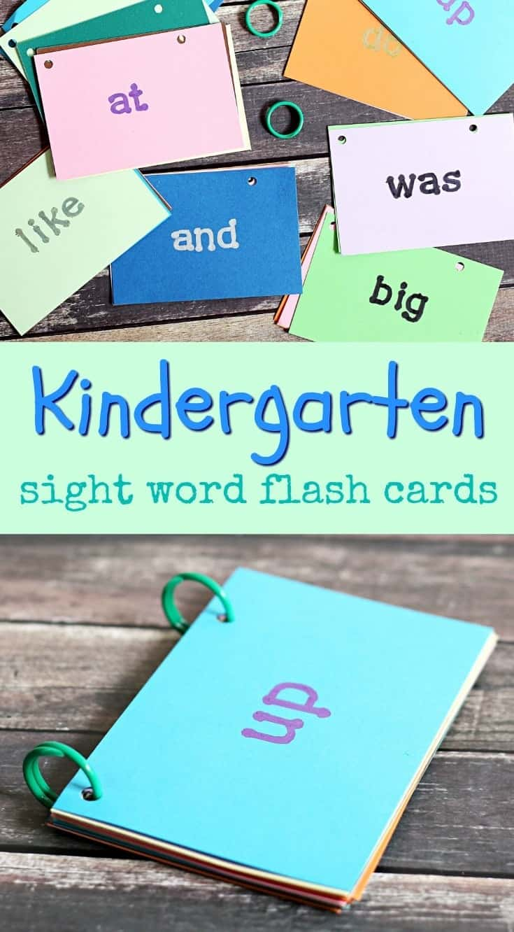 Get Your Child Ready for Kindergarten with Sight Word Flash Cards and Help Their School with @boxtops from @Costco #CostcoBoxTops (ad)