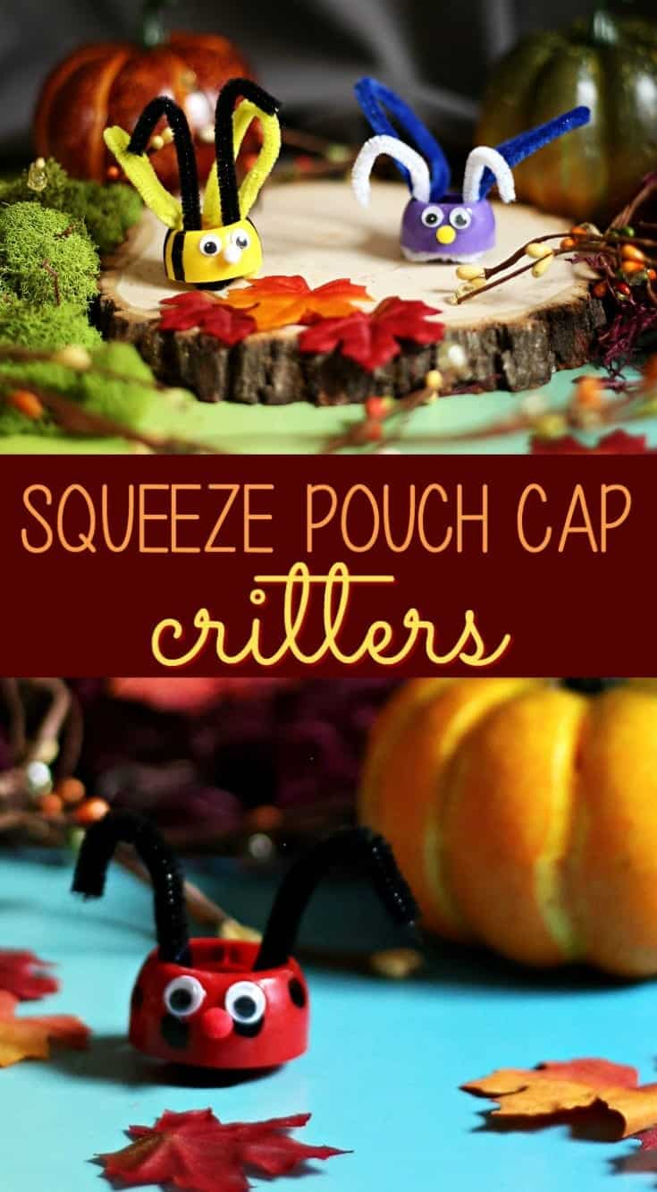 Squeeze Pouch Critter Craft with Musselman's Applesauce Sours #SqueezablesSours (AD)