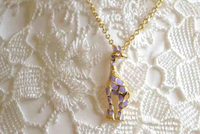 Lily Nily children's jewelry giraffe pendant review
