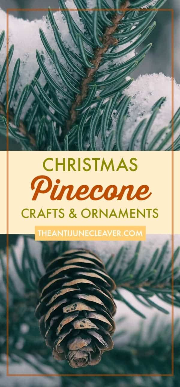 Christmas Pinecone Crafts for Kids and Adults #christmas #crafts #diy #pinecones #holidays #xmas #christmascrafts