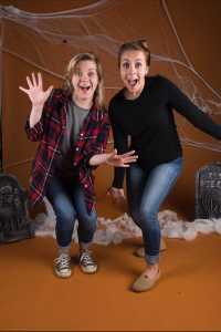 Members of the F/Stop Club, Darbey Younce and Sam Cooper, strike a pose at the annual Halloween Shoot in Boone Mall.