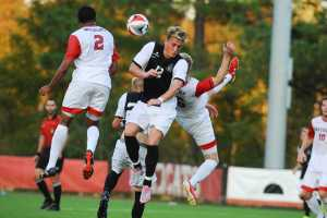 Junior forward Rian Phillips in a non-conference game against Davidson at the Alumni Soccer Stadium on Sept. 24 in Davidson, North Carolina.