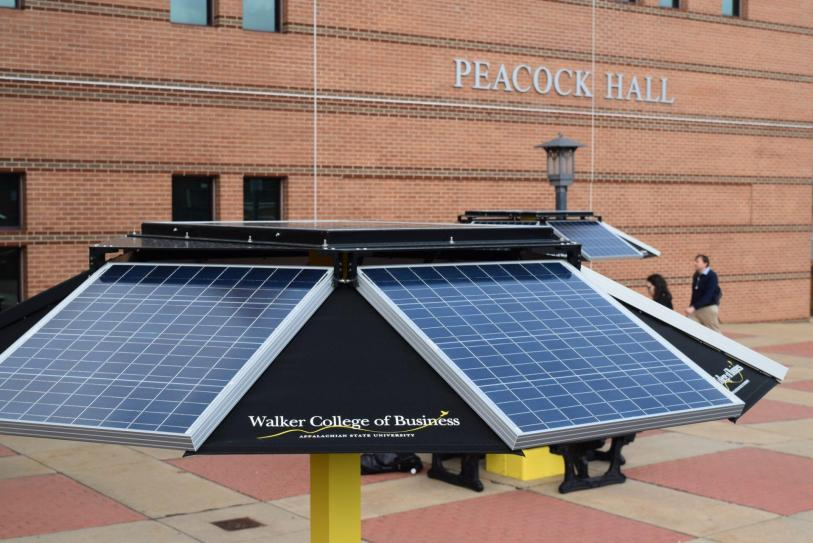 REI And Office Of Sustainability Unveil New Solar Picnic Tables - Solar picnic table
