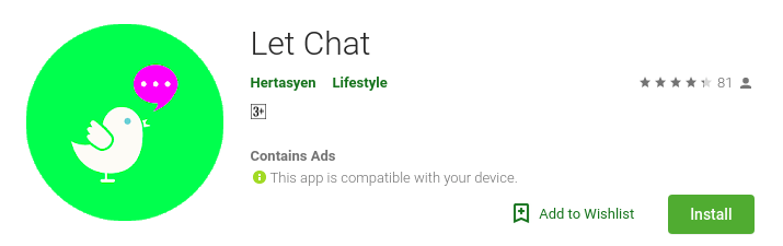 Logo of The Let Chat app
