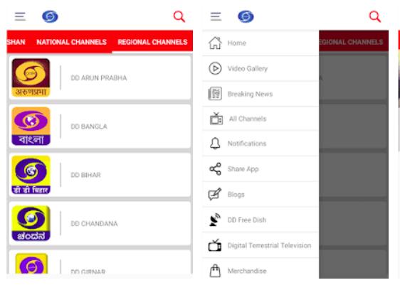 Doordarshan In-app screenshot