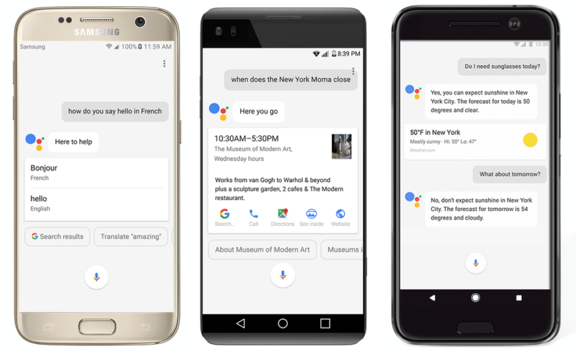 Image result for google assistant in iphone