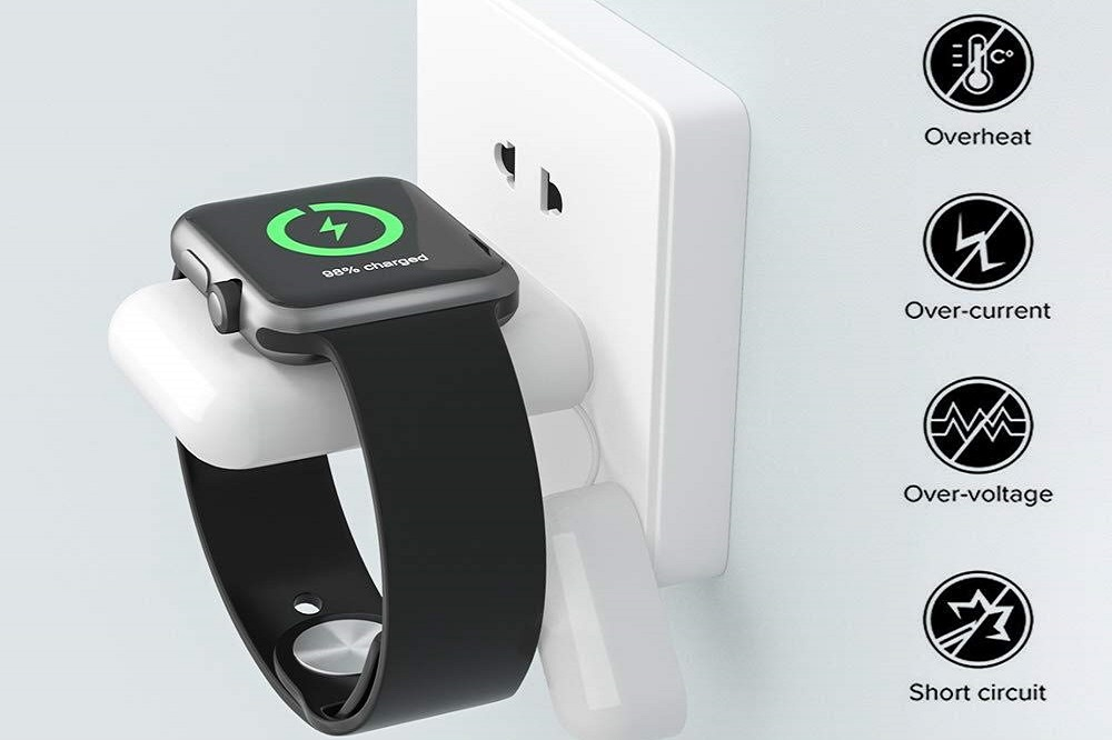 MQOUNY Apple Watch Wireless Charger Feature 1000mAh Pocket Power Bank Too, At $19 Only - TheAppleTech