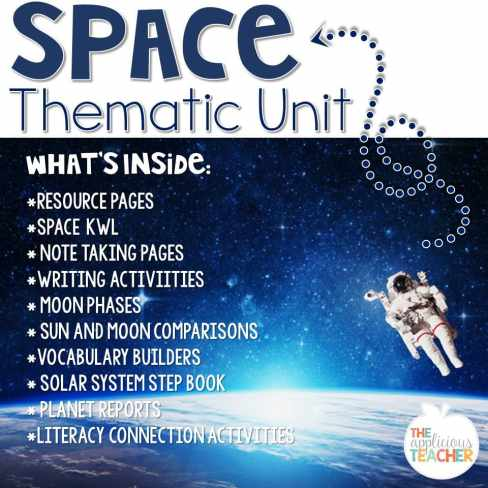 space thematic unit for 2nd grade