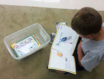 math reading during math centers