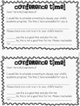 parent conference request forms